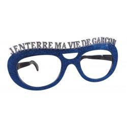 Lunettes Géantes J'enterre ma Vie de Garçon Bleu