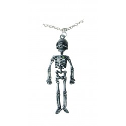 Collier Squelette métal Argenté Halloween - Déguisement sorcier adulte halloween The Duck