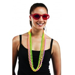 Colliers de Perles Multicolores Fluo - Lot de 4