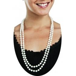 Collier Sautoir de Perle Blanche 1,6m