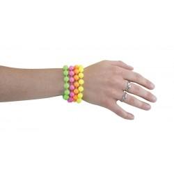Bracelets de Perles Fluo Adulte - Lot de 4
