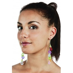 Boucles d'Oreilles Hippie Multicolores Adulte