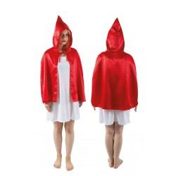 Réalisez un déguisement de petit chaperon rouge aisément grâce à cette cape à capuche.