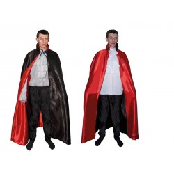 Cape Réversible Noire et Rouge Adulte 1,40m - Déguisement vampire Adulte halloween the duck