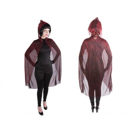 Cape de Sorcière Adulte noir rouge - déguisement sorcière femme halloween the duck
