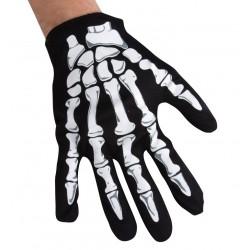 Gants de Squelette Enfant Noir & Blanc