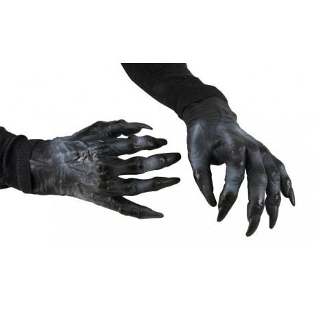 Mains de Monstre Adulte noir - Déguisement monstre adulte halloween The duck