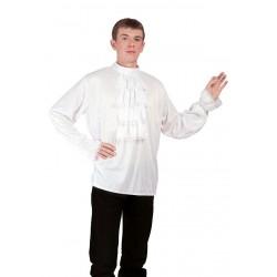 Chemise Blanche à Jabot Adulte