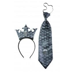 Kit de Roi Mort-Vivant : serre-tête et cravate