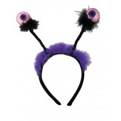Serre-tête Yeux Articulés avec fourrure violette - Déguisement squelette adulte halloween The Duck