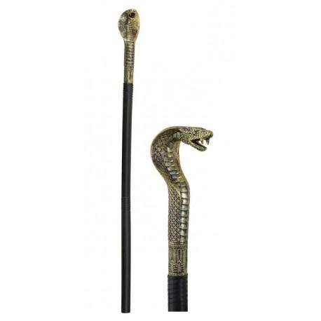 Sceptre de Pharaon Doré avec tête de Cobra - Déguisement pharaon carnaval the duck