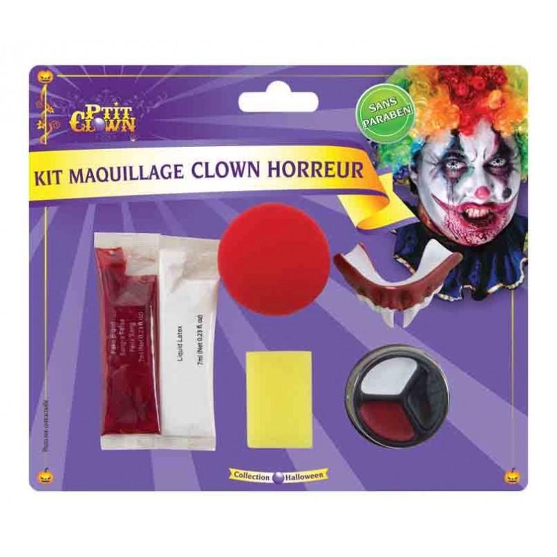kit de maquillage de clown qui fait peur kits de. Black Bedroom Furniture Sets. Home Design Ideas