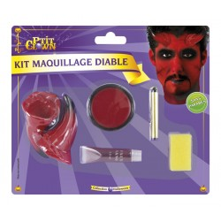 Kit de Maquillage de Diable - Déguisement diable halloween the duck