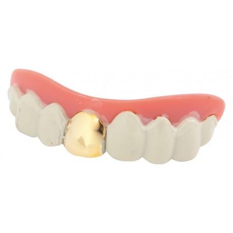 Dentier Dent en Or Rigide - Déguisement vampire adulte halloween the duck