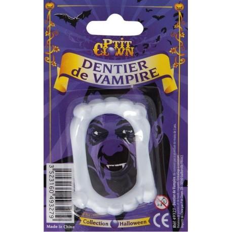 Dentier de Vampire Blanc Eco Adulte - Déguisement vampire adulte halloween the duck