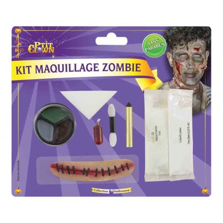 Maquillage de Monstre Halloween - Déguisement maquillage halloween zombie the duck