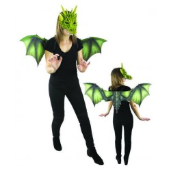 Kit de Dragon Vert Adulte : Ailes & Masque