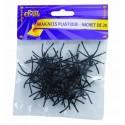 Araignées en plastique Noir - Lot de 20
