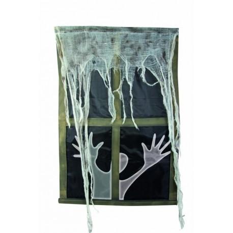 fen tre halloween sonore lumineuse guirlandes sur the. Black Bedroom Furniture Sets. Home Design Ideas