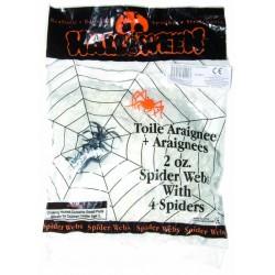Toile d'Araignée Blanche 56 gr - Décoration halloween toile d'araignée the duck