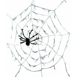 Toile d'Araignée Géante blanche avec Araignée 290 cm