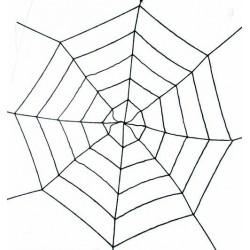 Toile d'Araignée Géante Extensible Noire 180 cm