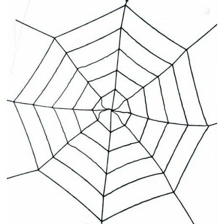 Toile d araign e g ante extensible noire 180 cm for Toile d araignee decoration