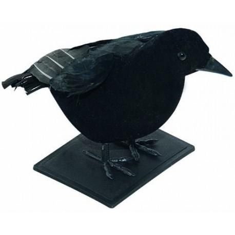 Corbeau Noir avec plumes - Décoration halloween sorcière animaux the duck