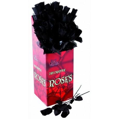 Rose Noire en Tissu 45 cm - Décoration halloween vampire the duck