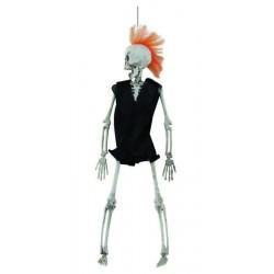 Squelette Punk à Crètes 40cm - Décoration halloween squelette the duck