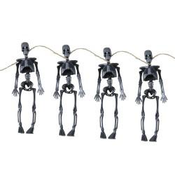 Squelettes Noirs 15cm - Lot de 4