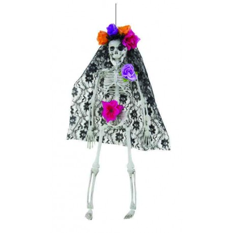 Squelette Day of the Dead Femme 40cm - Décoration halloween day of the dead the duck