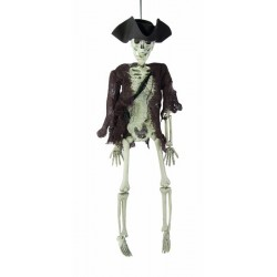 Squelette de Pirate 40cm - Décoration halloween pirate squelette the duck