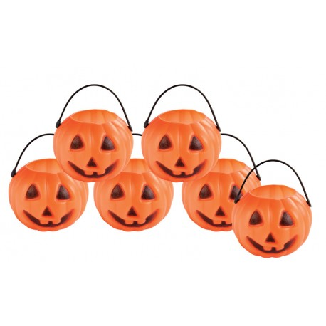 Mini-Pots Citrouille Orange Lot de 6 - Décoration halloween citrouille the duck