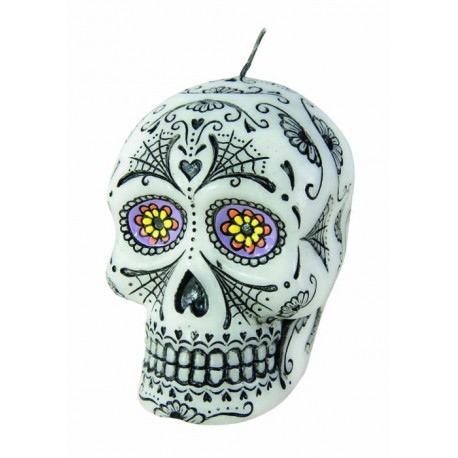 Bougie Day of the Dead 10cm - Décoration halloween day of the dead the duck
