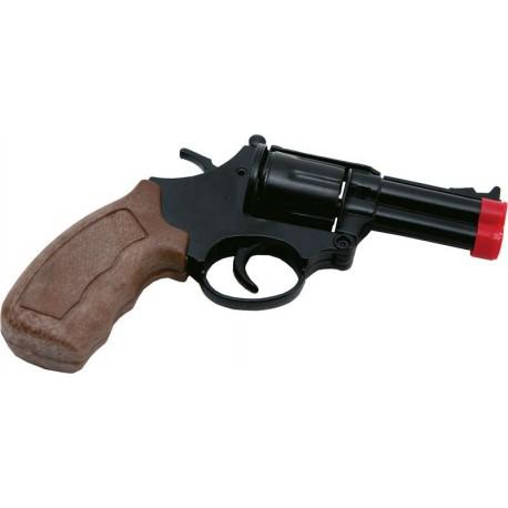 Revolver de Détective à Amorces en métal - Déguisement policier adulte the duck