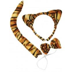 Kit de Tigre : Serre-tête, Queue et Nœud papillon