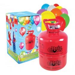 Kit Hélium & Ballons : Bouteille jetable 0.25m3 et 30 Ballons multicolores - Décoration carnaval the duck