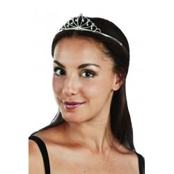 """Diadème de princesse """"luxe"""" - métal argenté avec strass - Déguisement princesse the duck"""