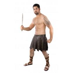Sandales Romaines Marron Adulte - Déguisement centurion romain adulte the duck