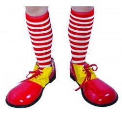 Chaussettes de Clown Rayées Rouge et Blanche Adulte