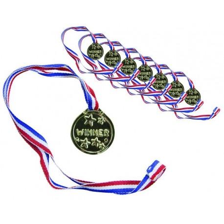 Médailles Dorées avec Ruban Tricolore - Déguisement france the duck