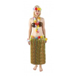 Jupe hawaïenne 80 cm Hawai - Déguisement hawaienne femme the duck