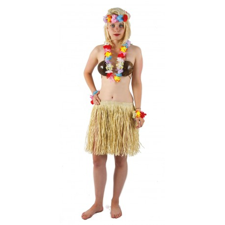 Set Hawaiian Adulte - Déguisement hawaïen adulte carnaval the duck