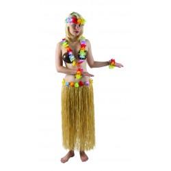Jupe hawaïenne Beige 80 cm - Déguisement Hawai Carnaval Femme The Duck