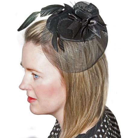 Chapeau bibi noir - Déguisement de princesse femme the duck