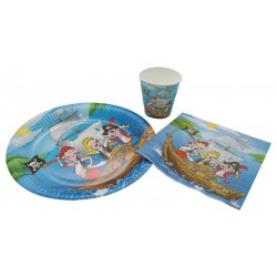 Assiette en carton de pirate - Décoration anniversaire pirate the duck