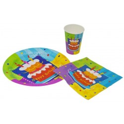 "Assiette en Carton ""Happy Birthday"" - Lot de 6"
