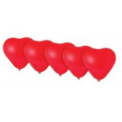 Ballons Cœur rouge - Lot de 5