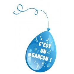 Ballons C'est un Garçon Bleu Baby Shower - Sachet de 10